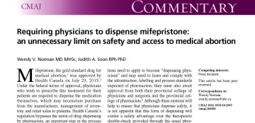 CMAJ Commentary- Drs. Norman & Soon argue normal Pharmacist dispensing is the better option in Canada